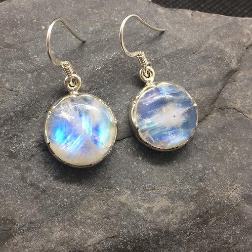 Wave Moonstone Earrings