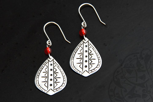 Tribal Drop Earrings with stone