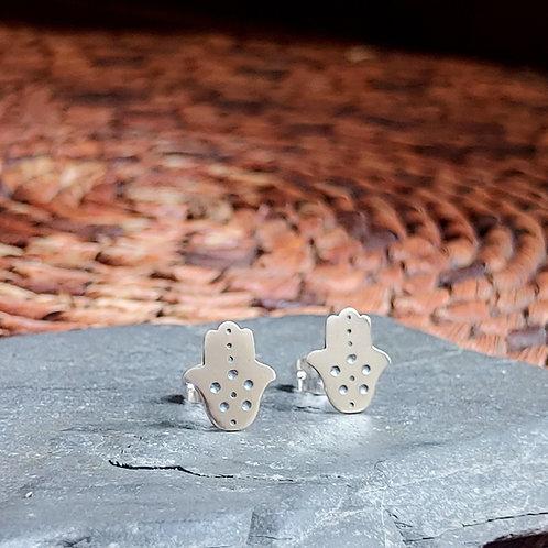 Hamsa Stud Earrings
