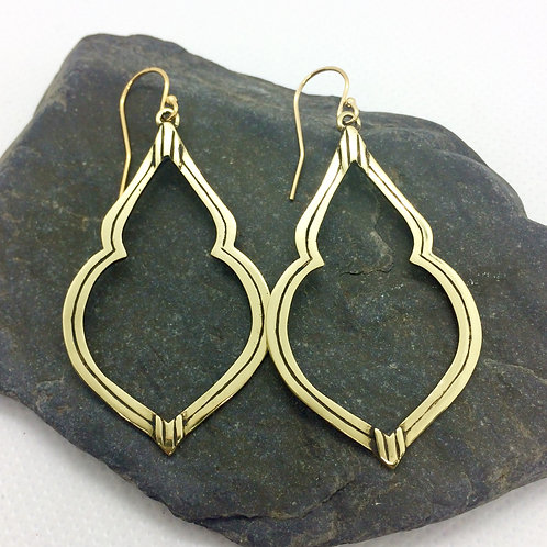 Palais Earrings - Brass