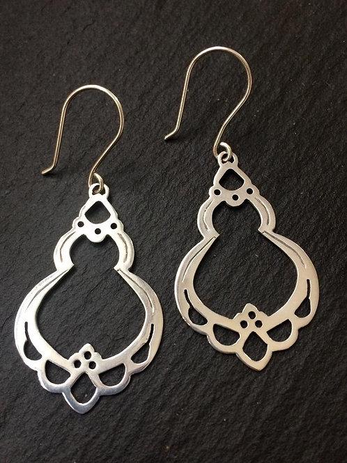 Full Blossom Silver Earrings