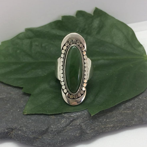 Canadian Jade SIlver Ring
