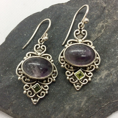 Fluorite & Peridot Earrings