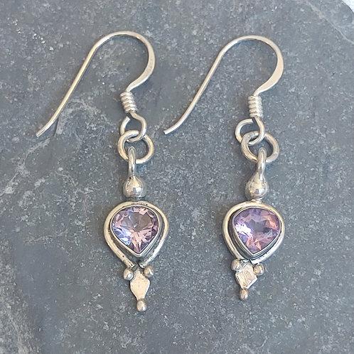 Delicate Amethyst earrings