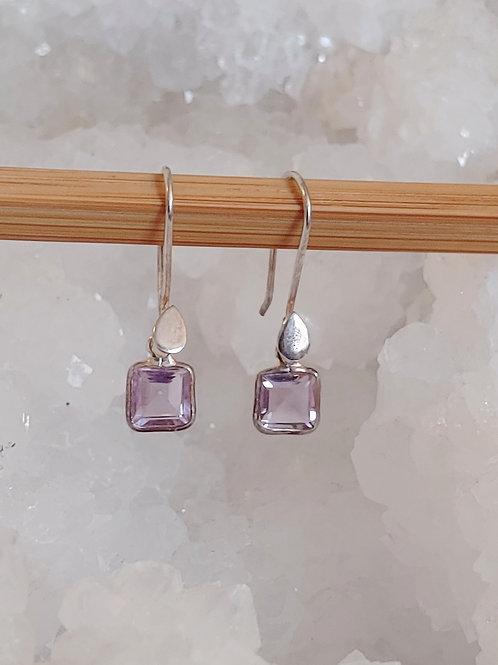Minimalist Amethyst Earrings