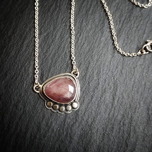 Ruby in Sapphire necklace