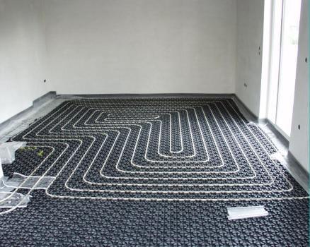 Fußbodenheizung | fräsen | Warmwasser | Heizung | Neubau