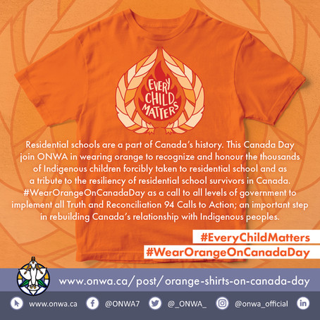 Orange Shirts on Canada Day 2021