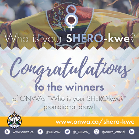 """Congratulations to the winners of the """"Who is your SHERO-kwe?"""" promotion"""