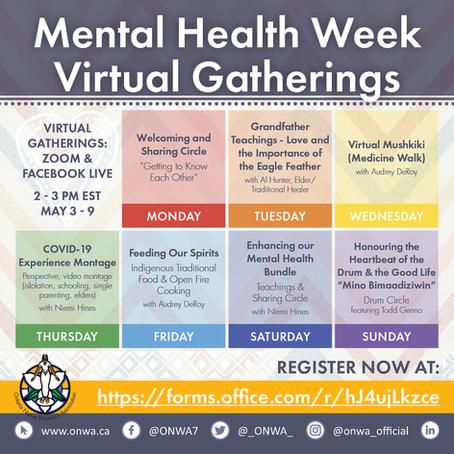 ONWA Supports Mental Health Week with Virtual Programming