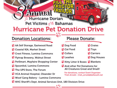 Heidi's Hope for Homeless Animals, Inc. 3rd Annual Fill the Tractor Trailer with Pet Donations!