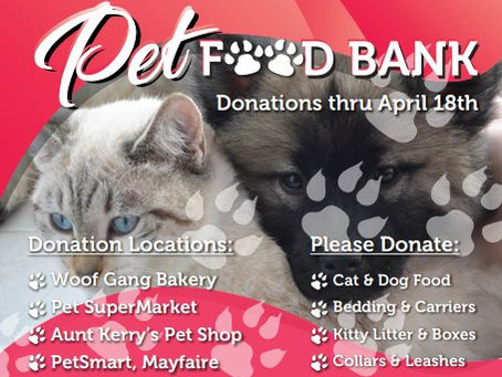 PawFest, Pet Donation Drive to Stock Shelves of Heidi's Hope for Homeless Animals Pet Food Bank