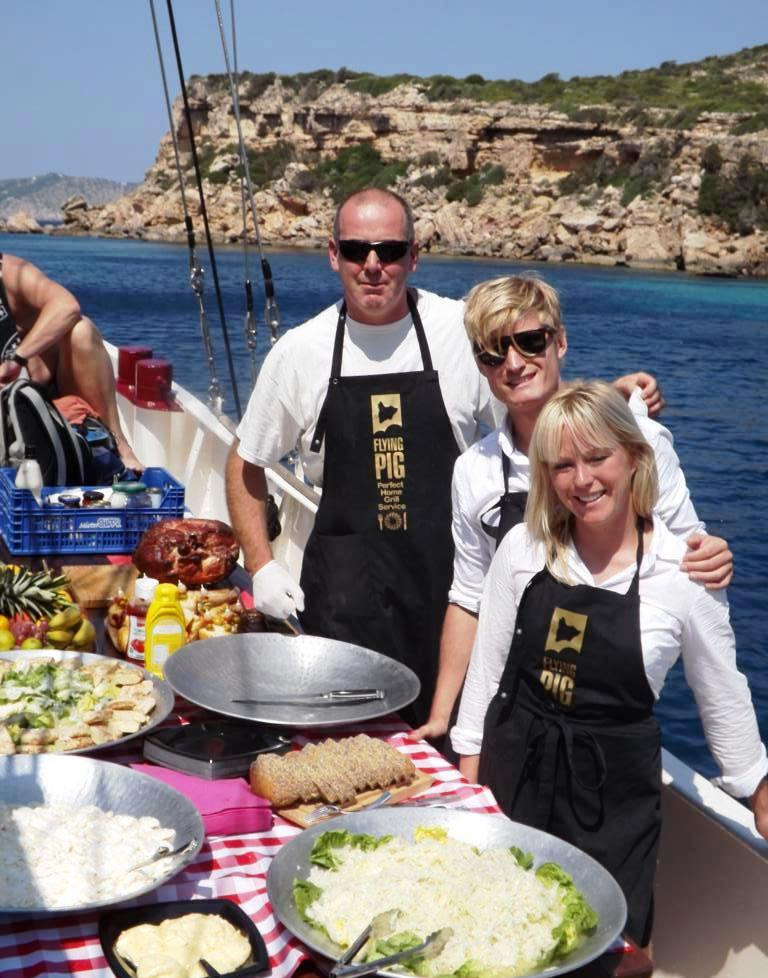 ibiza catering for yachts