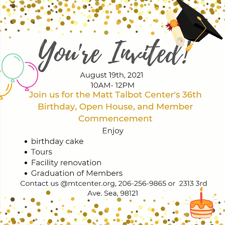 MTC 36th Birthday, Member Commencement, and Open House