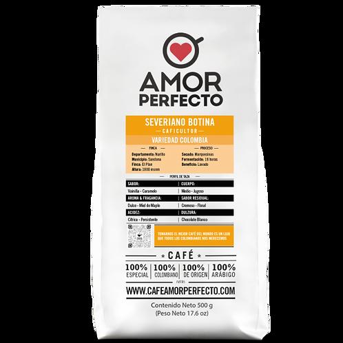 Café de autor en grano Amor Perfecto 500 gr Severiano Botina