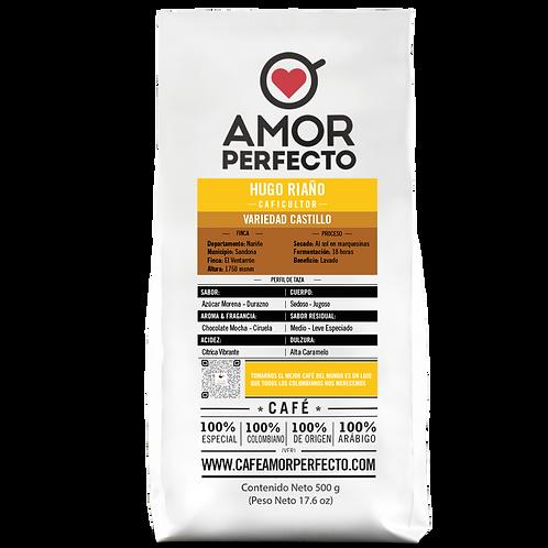 Café de autor en grano Amor Perfecto 500 gr Hugo Riaño
