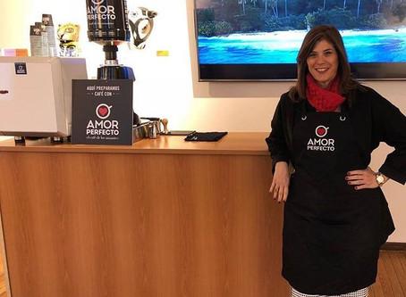 Degustación de Café Amor Perfecto en el saludo Protocolario de la embajada de Colombia en Uruguay
