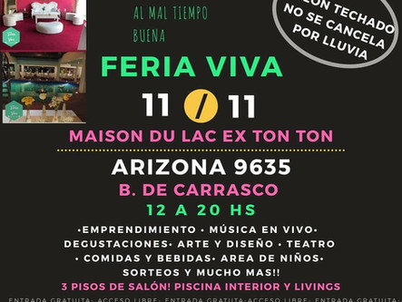 Este domingo los esperamos en FERIA VIVA!