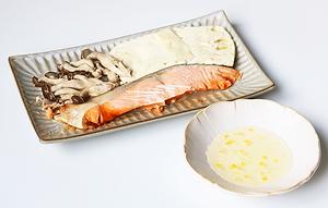 鮭と豆腐のレンジ蒸し(柚子舞う).png