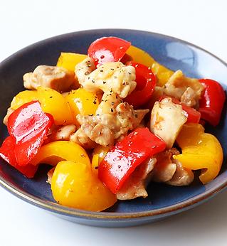 鶏肉の彩りわさび醤油炒め.png