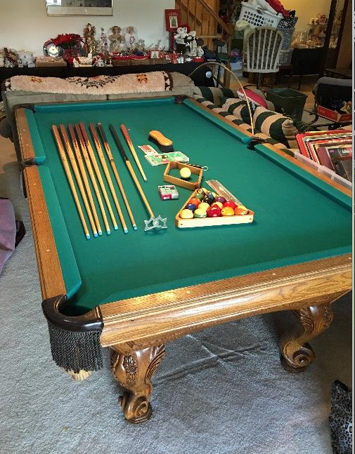 Estate Sale Colorado Springs Pool Table