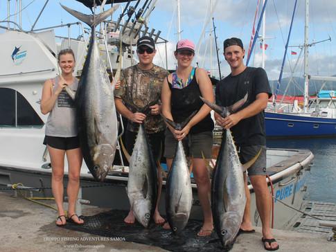 Latisha Hamilton's Samoa Women's Record 67.5kg Yellowfin Tuna