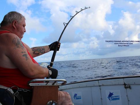 "Daz has landed his ""dream fish"" in Samoa."