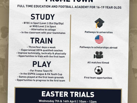 Academy launches Easter trial dates