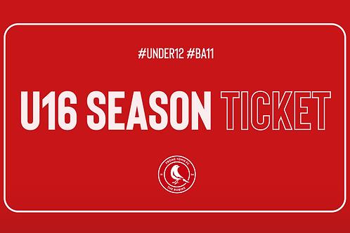 20/21 U16 Season Ticket