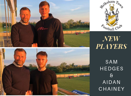 New players- Sam Hedges and Aidan Chainey