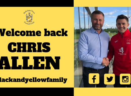 Welcome back Chris Allen!