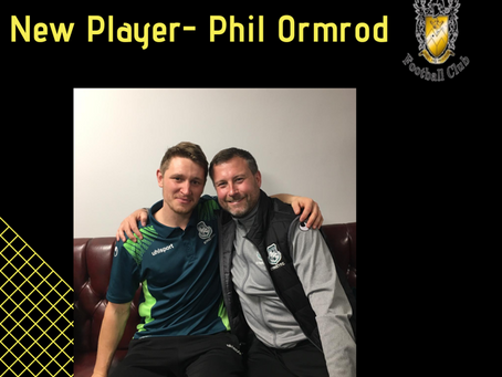 New Player- Phil Ormrod