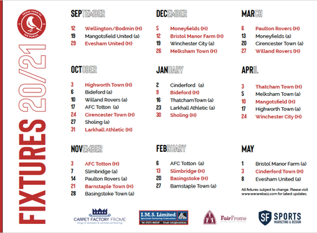 Fixtures for the new season