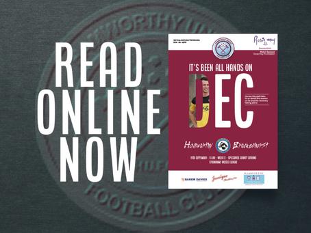 READ: Catch up on Saturday's Brockenhurst matchday programme (online)