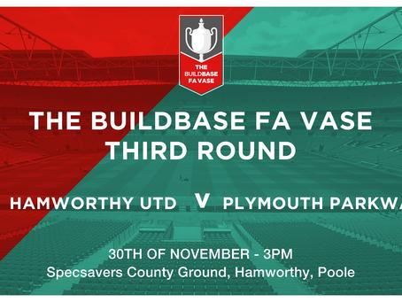 FA VAse Round 3: Draw made today