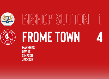 PRE-SEASON: Bishop Sutton 1-4 Frome Town