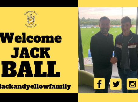 New signing- Jack Ball