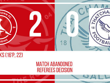 REPORT: ABANDONED Frome Town 2-0 Thatcham