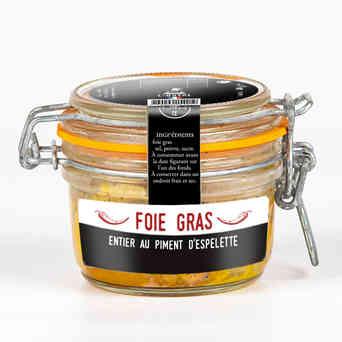 Foie gras entier au piment d'Espelette - L'Ôstal - 180g