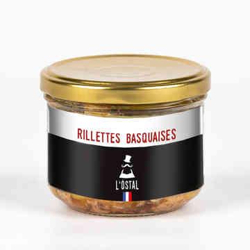 Rillettes basquaises au piment d'Espelette - L'Ôstal - 190g