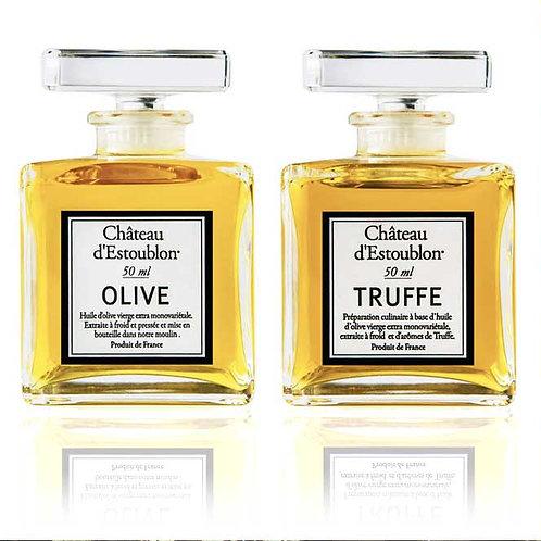 Huile d'olive vierge extra arôme truffe & vierge extra CHATEAU D'ESTOUBLON