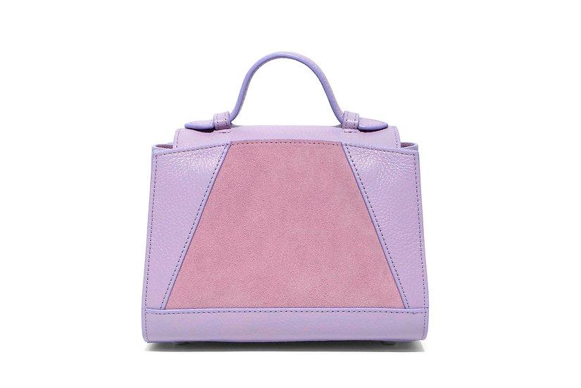 Mini Hugo Handbag - Pink Suede