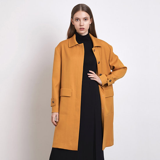 Flab Pocket Coat - Mustard