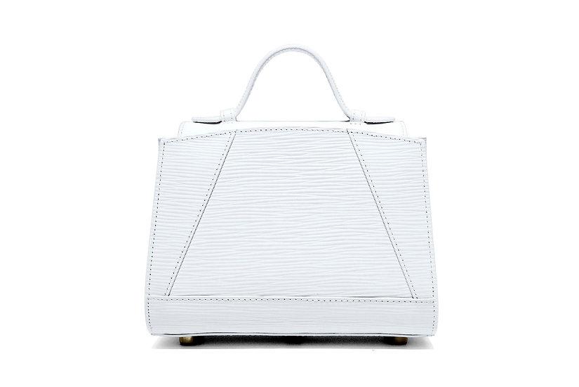 Mini Hugo Handbag - White Epi