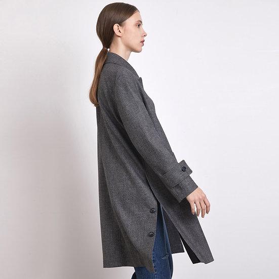 Flap Pocket Coat - Gray