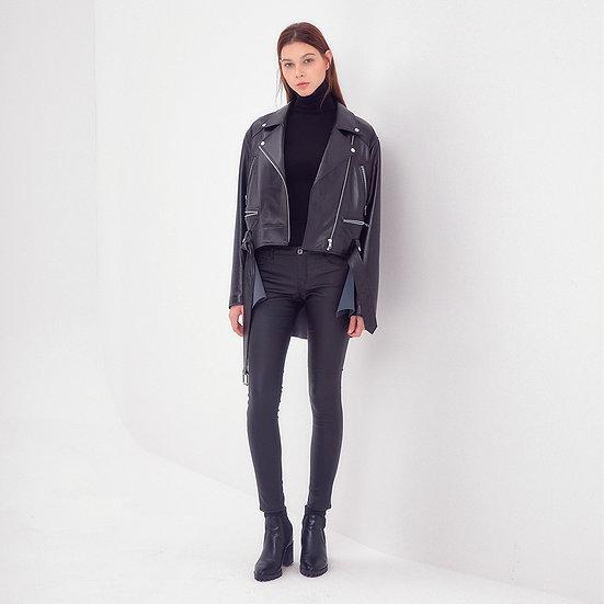 Leather Neoprene Jacket