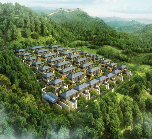 Neubau einer Villa als Musterhaus in Bei
