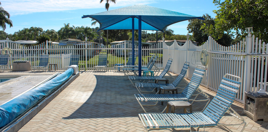 Pool and Awning Seating