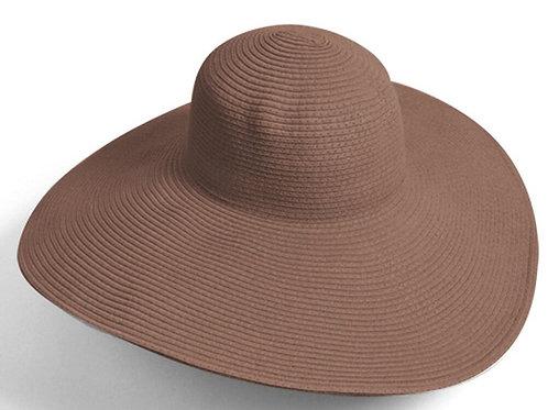 Wide Brim Floppy Hat - Brown