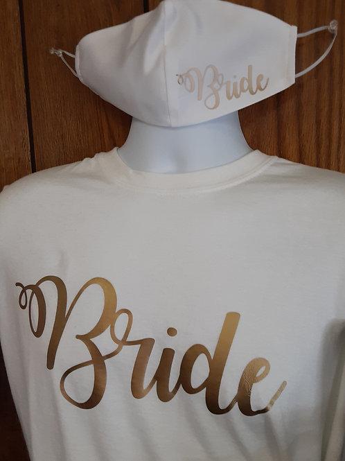 Bride T-Shirt & Mask Set